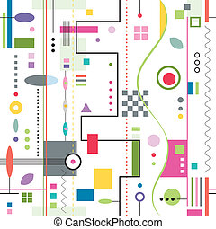 padrão, abstratos, coloridos