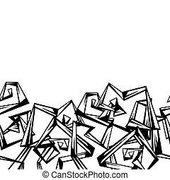 padrão, abstratos, corners., seamless, cachos