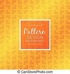 padrão, abstratos, fundo amarelo