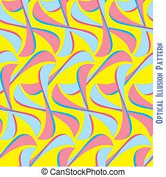 padrão, abstratos, ilusão óptica, seamless