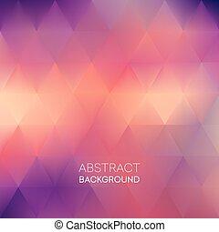 padrão, abstratos, ilustração, vetorial, experiência., borrão, triangulo