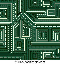 padrão, abstratos, linhas, seamless, experiência verde