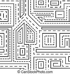 padrão, abstratos, linhas, seamless, fundo, branca