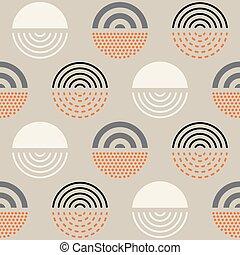 padrão, abstratos, meio, século