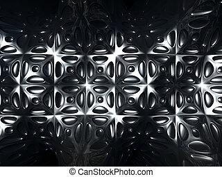 padrão, abstratos, metal, fundo, azulejo, prata