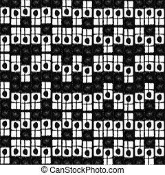 padrão, abstratos, pretas, branca, geomã©´ricas
