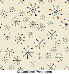 padrão, abstratos, século, meio, espaço