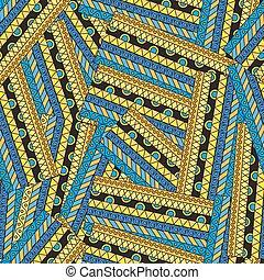 padrão, abstratos, seamless, étnico