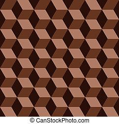 padrão, abstratos, seamless, chocolate, vetorial, mosaico