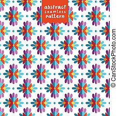 padrão, abstratos, seamless, coloridos, étnico