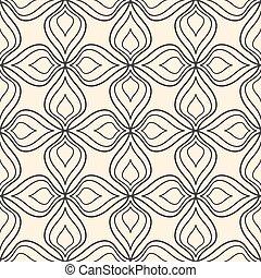 padrão, abstratos, seamless, experiência bege, floral