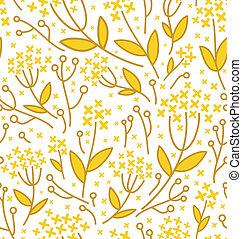 padrão, abstratos, seamless, fundo, floral, branca