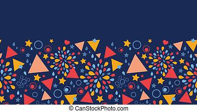 padrão, abstratos, seamless, fundo, horizontais, celebração