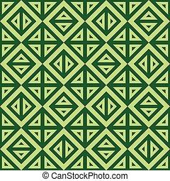 padrão, abstratos, seamless, textura, vetorial, verde, geomã©´ricas