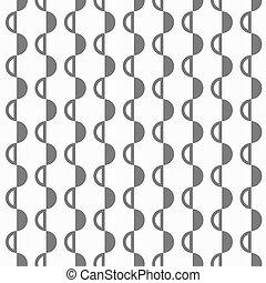 padrão, abstratos, semispheres, pretas, branca