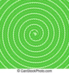 padrão, abstratos, verde, espiral