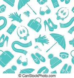 padrão, acessórios, feminina, seamless