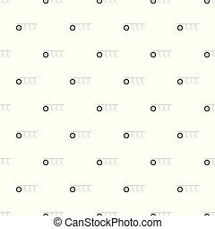 padrão, arado, vetorial, seamless, trator
