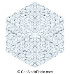 padrão, azul, decorativo, natal, snowflakes