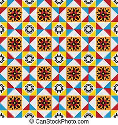 padrão, azulejos, clássico