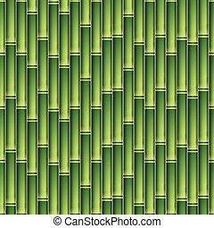 padrão, bambu, seamless