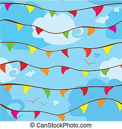 padrão, bandeiras, seamless, celebração