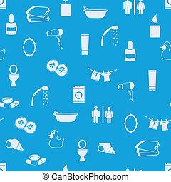 padrão, banheiro, seamless
