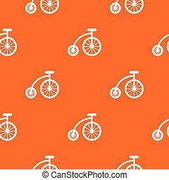 padrão, bicicleta, crianças, seamless