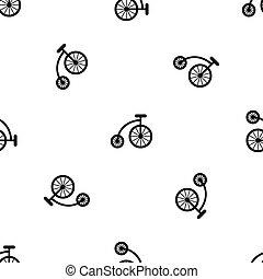 padrão, bicicleta, pretas, crianças, seamless
