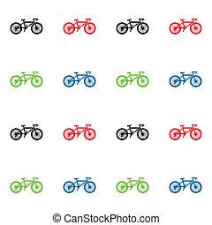padrão, bicicleta, seamless