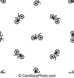 padrão, bicicleta, seamless, pretas