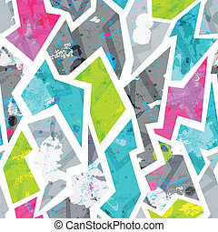 padrão, blots, grunge, seamless, efeito