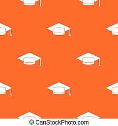 padrão, boné, seamless, estudante