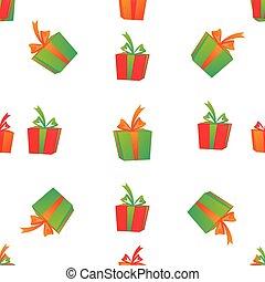 padrão, boxes., presente, seamless