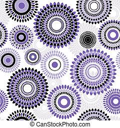 padrão, branca, bolas, seamless