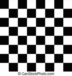 padrão, branca, tabuleiro damas, pretas, seamless