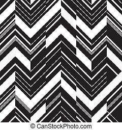 padrão, branca, -, ziguezague, pretas