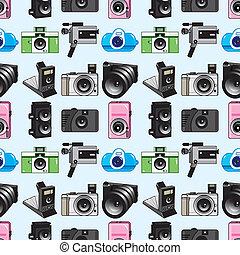 padrão, câmera, seamless