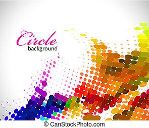 padrão, círculo, coloridos