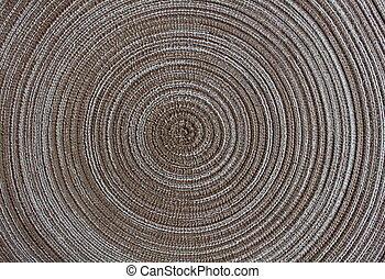padrão, círculo, fundo, marrom