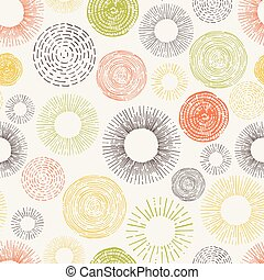 padrão, círculo, seamless