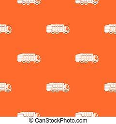 padrão, caminhão, seamless, lixo