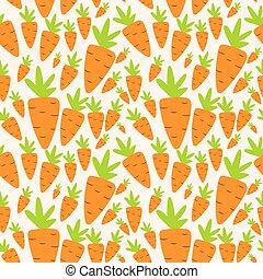 padrão, cenoura, seamless, ilustração, vetorial, fundo
