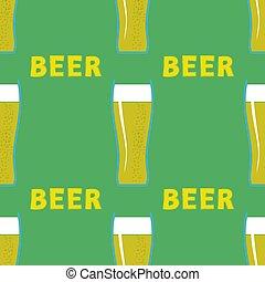 padrão, cerveja, seamless, óculos