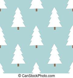 padrão, christmas branco, árvores