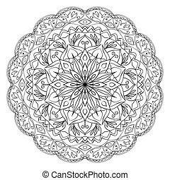 padrão, circular, étnico, oriental