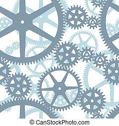 padrão, cogwheels, seamless