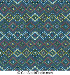 padrão, colorido, étnico