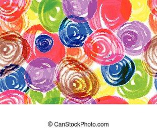 padrão, colorido, manchas, seamless