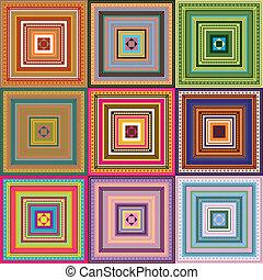 padrão, -, colorido, tapete